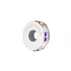 Accesoriu bratara tip PANDORA, Charm Spacer SWAROVSKI Crystals Aurore Boreale + Cutie Cadou