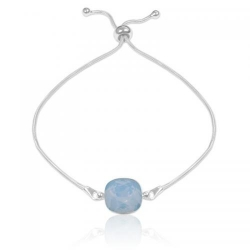 Bratara Argint 925, Bratara SWAROVSKI Brilliant Air Blue Opal + CADOU Laveta profesionala pentru curatat bijuteriile din argint + Cutie Cadou