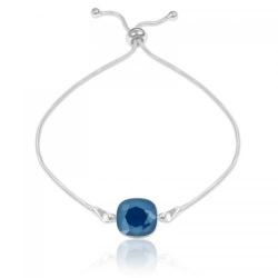 Bratara Argint 925, Bratara SWAROVSKI Brilliant Royal Blue + CADOU Laveta profesionala pentru curatat bijuteriile din argint + Cutie Cadou
