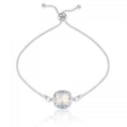 Bratara Argint 925, Bratara SWAROVSKI Brilliant White Opal + CADOU Laveta profesionala pentru curatat bijuteriile din argint + Cutie Cadou