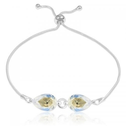 Bratara Argint 925, Bratara SWAROVSKI Crystals Glamour Moonlight + CADOU Laveta profesionala pentru curatat bijuteriile din argint