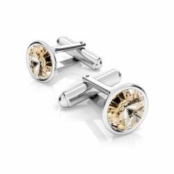 Butoni Argint 925, Butoni SWAROVSKI Crystals Light Silk 12mm + CADOU Laveta profesionala pentru curatat bijuteriile din argint - Butoni Camasa Criando Bijoux -
