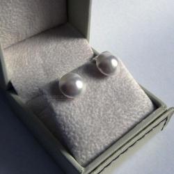 Cercei Argint 925, Cercei Flat White Pearl