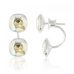 Cercei Argint 925, Cercei SWAROVSKI Crystals Brilliant (2) Moonlight + CADOU Laveta profesionala pentru curatat bijuteriile din argint