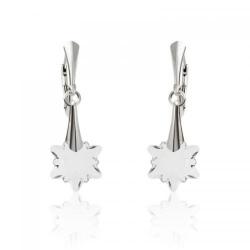 Cercei Argint 925, Cercei SWAROVSKI Crystals Edelweiss Crystal Clear + CADOU Laveta profesionala pentru curatat bijuteriile din argint