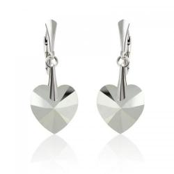 Cercei Argint 925, Cercei SWAROVSKI Passion Chrome + CADOU Laveta profesionala pentru curatat bijuteriile din argint + Cutie Cadou