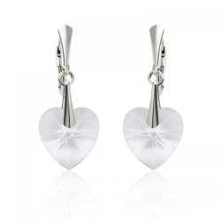 Cercei Argint 925, Cercei SWAROVSKI Passion Crystal Clear + CADOU Laveta profesionala pentru curatat bijuteriile din argint + Cutie Cadou