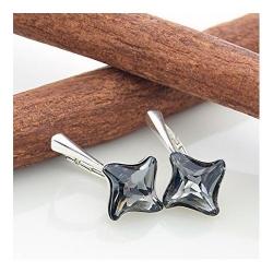 Cercei Argint 925, Cercei SWAROVSKI Twister Night + CADOU Laveta profesionala pentru curatat bijuteriile din argint