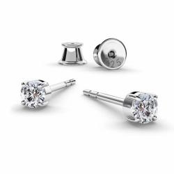 Cercei Argint 925, Cercei SWAROVSKI Zirconia Crystal Clear 3mm + CADOU Laveta profesionala pentru curatat bijuteriile din argint