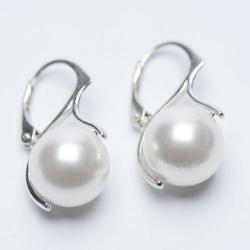 Cercei Argint 925, Cercei White Pearl