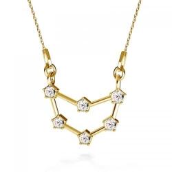 Colier Constelatie Zodiacala Capricorn din Argint 925 placat cu Aur 24k si SWAROVKI Crystals + CADOU Laveta profesionala pentru curatat bijuteriile din argint