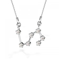 Colier Constelatie Zodiacala Leu din Argint 925 si SWAROVKI Crystals + CADOU Laveta profesionala pentru curatat bijuteriile din argint