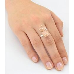 Inel Argint 925, Inel SWAROVSKI Crystals Brilliant (2) Rose Peach + CADOU Laveta profesionala pentru curatat bijuteriile din argint