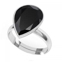 Inel Argint 925, Inel SWAROVSKI Crystals Glamour Black + CADOU Laveta profesionala pentru curatat bijuteriile din argint