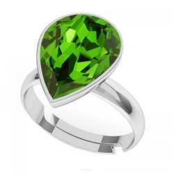 Inel Argint 925, Inel SWAROVSKI Crystals Glamour Green + CADOU Laveta profesionala pentru curatat bijuteriile din argint