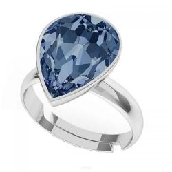 Inel Argint 925, Inel SWAROVSKI Crystals Glamour Montana + CADOU Laveta profesionala pentru curatat bijuteriile din argint