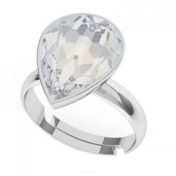 Inel Argint 925, Inel SWAROVSKI Crystals Glamour Moonlight + CADOU Laveta profesionala pentru curatat bijuteriile din argint
