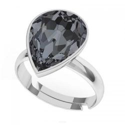 Inel Argint 925, Inel SWAROVSKI Crystals Glamour Night + CADOU Laveta profesionala pentru curatat bijuteriile din argint
