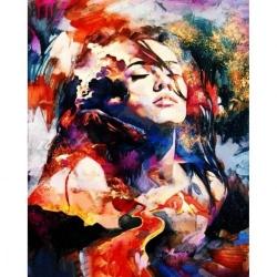 Pictura pe numere 40x50 cm - Panza din bumbac pe rama de lemn - Colorful Mind (PDP-330)