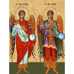 Picturi pe numere Religioase 40x50 cm Sfintii Mihail si Gavril 8 Noiembrie PDP1453