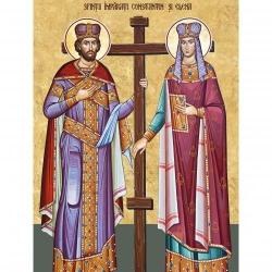 Picturi pe numere Religioase 40x50 cm Sfintii Constantin si Elena 21 Mai PDP1461