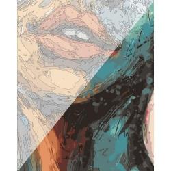Pictura pe numere 40x50 cm - Panza din bumbac pe rama de lemn (PDP-972)