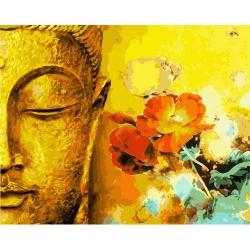 Pictura pe numere - Panza din bumbac pe rama de lemn 40*50 cm - Budha (1) (WM-329)