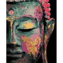Pictura pe numere - Panza din bumbac pe rama de lemn 40*50 cm - Budha (3) (XZC-679)