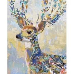 Pictura pe numere - Panza din bumbac pe rama de lemn 40*50 cm - Colorful Deer (PDP-853)