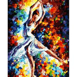Pictura pe numere - Panza din bumbac pe rama de lemn 40*50 cm - Dansul balerinei (2) (WM-886)