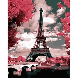 Pictura pe numere - Panza din bumbac pe rama de lemn 40*50 cm - Pink Paris (YM-113)