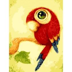 Pictura pe numere - Panza din bumbac pe rama de lemn 40*50 cm - Pui de papagal (PDP-857)