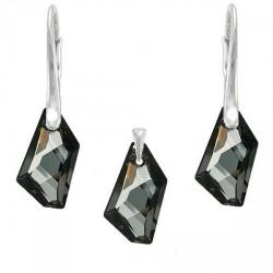 Set Argint 925, Set SWAROVSKI Crystals Art Night + CADOU Laveta profesionala pentru curatat bijuteriile din argint + Cutie Cadou