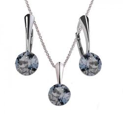 Set Argint 925, Set Swarovski Crystals Finesse BS  + CADOU Laveta profesionala pentru curatat bijuteriile din argint + Cutie Cadou
