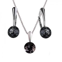 Set Argint 925, Set Swarovski Crystals Finesse Night  + CADOU Laveta profesionala pentru curatat bijuteriile din argint + Cutie Cadou