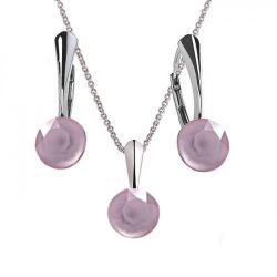 Set Argint 925, Set Swarovski Crystals Finesse Powder Rose  + CADOU Laveta profesionala pentru curatat bijuteriile din argint + Cutie Cadou