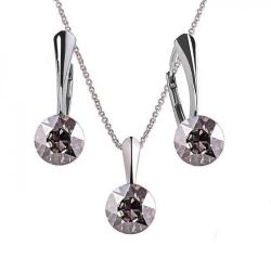 Set Argint 925, Set Swarovski Crystals Finesse Silver Shade  + CADOU Laveta profesionala pentru curatat bijuteriile din argint + Cutie Cadou