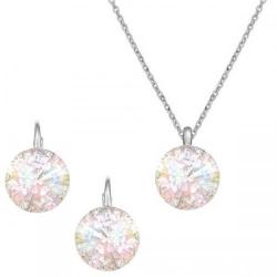 Set Argint 925, Set Swarovski Crystals Grace AB Patina + CADOU Laveta profesionala pentru curatat bijuteriile din argint + Cutie Cadou