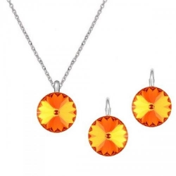 Set Argint 925, Set Swarovski Crystals Grace Sun + CADOU Laveta profesionala pentru curatat bijuteriile din argint + Cutie Cadou