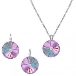 Set Argint 925, Set Swarovski Crystals Grace Vitrail Light + CADOU Laveta profesionala pentru curatat bijuteriile din argint + Cutie Cadou