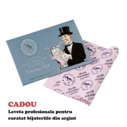 Set Argint 925, Set SWAROVSKI Grace Fuchsia + CADOU Laveta profesionala pentru curatat bijuteriile din argint + Cutie Cadou