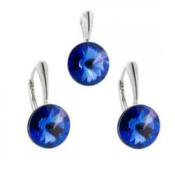 Set Argint 925, Set SWAROVSKI Grace Sapphire + CADOU Laveta profesionala pentru curatat bijuteriile din argint + Cutie Cadou