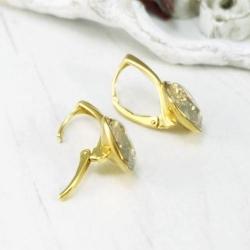 Set bijuterii Argint 925 placat cu Aur 24k, Set SWAROVSKI Brilliant Gold + CADOU Laveta profesionala pentru curatat bijuteriile din argint + Cutie Cadou