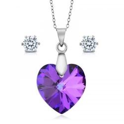 Set bijuterii Ocean Helios din Argint 925 si cristale SWAROVSKI Crystals + CADOU Laveta profesionala pentru curatat bijuteriile din argint