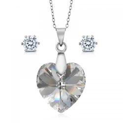 Set bijuterii Ocean Moonlight din Argint 925 si cristale SWAROVSKI Crystals + CADOU Laveta profesionala pentru curatat bijuteriile din argint