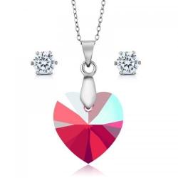 Set bijuterii Ocean Shimmer din Argint 925 si cristale SWAROVSKI Crystals + CADOU Laveta profesionala pentru curatat bijuteriile din argint