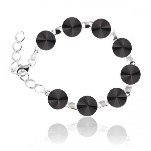 Bratara Argint 925, Bratara SWAROVSKI Grace Black + CADOU Laveta profesionala pentru curatat bijuteriile din argint + Cutie Cadou