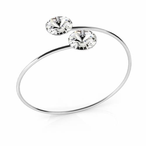 Bratara Argint 925, Bratara SWAROVSKI Grace Crystal Clear 12mm + CADOU Laveta profesionala pentru curatat bijuteriile din argint + Cutie Cadou