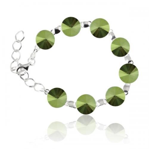 Bratara Argint 925, Bratara SWAROVSKI Grace Iridescent Green + CADOU Laveta profesionala pentru curatat bijuteriile din argint + Cutie Cadou
