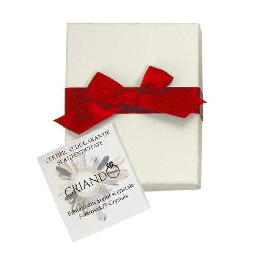 Bratara Argint 925, Bratara SWAROVSKI Grace Ivory Cream 12mm + CADOU Laveta profesionala pentru curatat bijuteriile din argint + Cutie Cadou